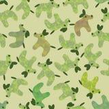 Het leuke hondenpatroon in gedempt grays met knalt van andere kleuren stock illustratie