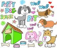 Het leuke Huisdier van de Zomer van de Hond van het Puppy Dierlijke Royalty-vrije Stock Afbeeldingen