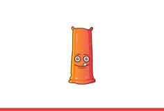 Het leuke Jelly Monster-glimlachen Royalty-vrije Stock Afbeelding
