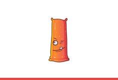 Het leuke Jelly Monster-knipogen Royalty-vrije Stock Afbeelding