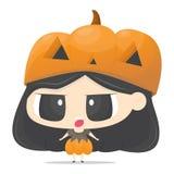Het leuke jonge geitje van Halloween Stock Fotografie