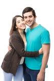 Het leuke jonge Spaanse paar dateren royalty-vrije stock foto's