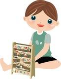 Het leuke jongen bestuderen Stock Foto