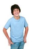 Het leuke jongen lachen stock afbeeldingen
