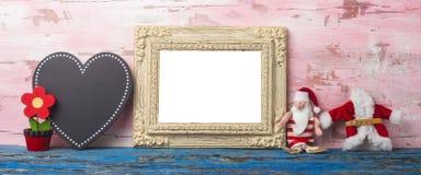 Het leuke kader van de Kerstmisfoto Copyspace Royalty-vrije Stock Afbeeldingen