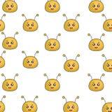 Het leuke karakter van bijenkawaii Stock Afbeeldingen