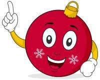 Het leuke Karakter van de Bal van Kerstmis Stock Afbeelding