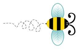 Het leuke karakter van het bijenbeeldverhaal Stock Afbeeldingen