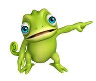 Het leuke karakter van het Kameleon grappige beeldverhaal Stock Afbeeldingen