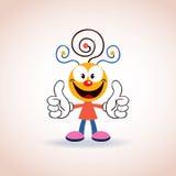 Het leuke karakter van het mascottebeeldverhaal Stock Foto's