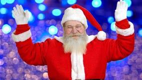 Het leuke Kerstman ` s welkom heten stock footage