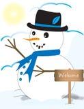 Het leuke kijken Sneeuwman Royalty-vrije Illustratie