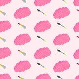 Het leuke kleurrijke patroon van de meisjesmacht stock illustratie