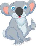 Het leuke koalabeeldverhaal beduimelt omhoog Stock Afbeelding