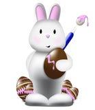 Het leuke konijntje schilderen Stock Afbeelding