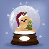 Het leuke malplaatje van de Kerstmisprentbriefkaar Stock Afbeelding