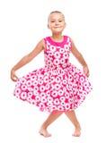 Het leuke meisje dansen royalty-vrije stock fotografie