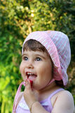 Het leuke meisje glimlachen Stock Fotografie