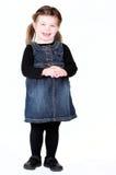 Het leuke meisje met handen clasped Royalty-vrije Stock Afbeelding