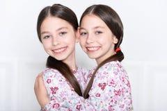 Het leuke meisjes stellen Royalty-vrije Stock Foto