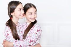 Het leuke meisjes stellen Royalty-vrije Stock Afbeeldingen