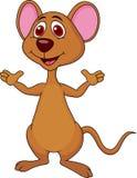 Het leuke muisbeeldverhaal golven Stock Afbeeldingen
