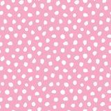 Het leuke naadloze van de de puntenbaby van de scandikrabbel roze van het het meisjespatroon vector illustratie