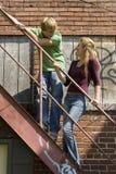 Het leuke Paar van de Tiener Stock Foto's