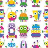 Het leuke patroon van de robotsinzameling Royalty-vrije Stock Afbeeldingen