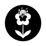 Het leuke pictogram van de bloemaard Stock Foto's