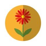 Het leuke pictogram van de bloemaard Stock Afbeeldingen
