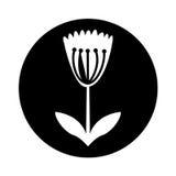 Het leuke pictogram van de bloemaard Stock Afbeelding