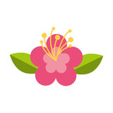 Het leuke pictogram van de bloemaard Royalty-vrije Stock Foto