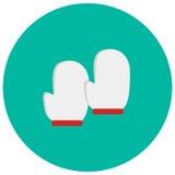 Het leuke pictogram van de handschoenkok in in vlakke stijl op kleurenachtergrond Keukengereisymbool voor uw ontwerp, embleem, UI Stock Afbeelding