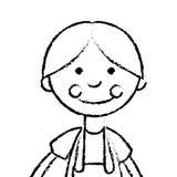 Het leuke pictogram van de voddenpop Royalty-vrije Stock Afbeelding