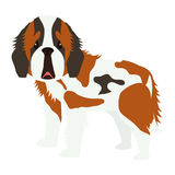 Het leuke pictogram van het hondbeeldverhaal Royalty-vrije Stock Afbeelding