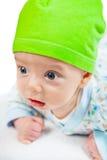 Het leuke portret van de babyjongen Stock Afbeeldingen