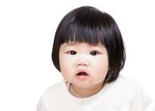 Het leuke portret van het babymeisje stock foto