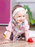 Het leuke portret van het babymeisje Royalty-vrije Stock Afbeeldingen