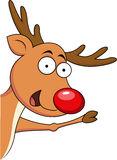 Het leuke Rendier van Kerstmis Stock Fotografie