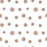 Het leuke roze madeliefje bloeit naadloze patroonillustratie als achtergrond stock illustratie