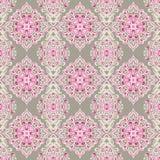 Het leuke roze van het patroondamast Stock Afbeelding
