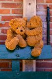 Het leuke teddybears fluisteren stock foto's