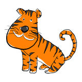 Het leuke tijger schilderen Royalty-vrije Stock Foto