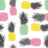 Het leuke vectorpatroon van pastelkleur geometrische ananassen vector illustratie