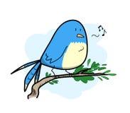 Het leuke vogel zingen Royalty-vrije Stock Afbeelding