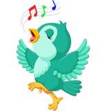 Het leuke vogel zingen royalty-vrije illustratie