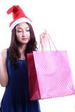 Het leuke vrouw winkelen Royalty-vrije Stock Afbeelding