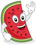 Het leuke Watermeloenkarakter Glimlachen Royalty-vrije Stock Afbeelding