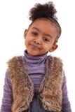 Het leuke zwarte meisje glimlachen Royalty-vrije Stock Foto
